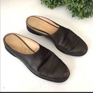 Salvatore ferragamo black slip on size 10 shoes